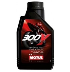 15W-50 300V 4T Moto FACTORY LINE Συσκ.1-Lt (MOTUL)