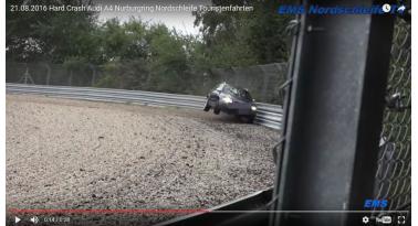 Audi A4 φεύγει εκτός στροφής
