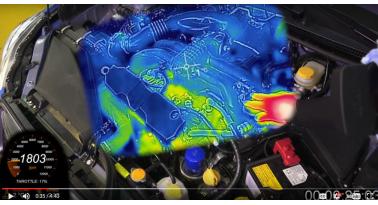 Πώς ζεσταίνεται ένας κινητήρας - Εικόνα από θερμική κάμερα