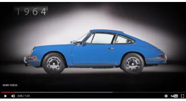 Η εξέλιξη της 911 από το 1964 σε λίγα δευτερόλεπτα!