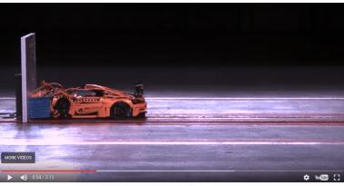 Δείτε το crash-test μιας Porsche 911 φτιαγμένης από lego!