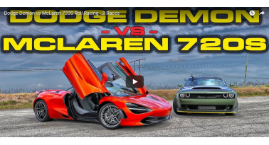McLaren 720S VS Dodge Demon! 808 ίπποι εναντίον 710!