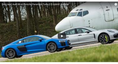 Audi R8 Εναντίον Porsche's Panamera Turbo S E-Hybrid!