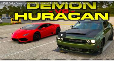 Dodge Demon Εναντίον Lamborghini Huracan! Ποιο θα κερδίσει;