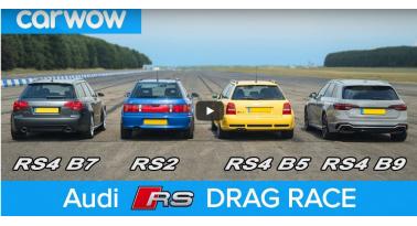 Τέσσερις γενιές Audi RS σε drag race!