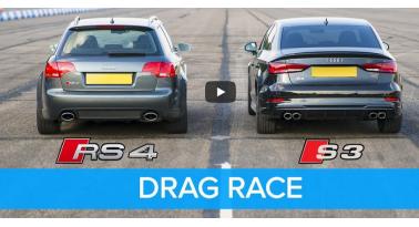 Audi S3 Εναντίον B7 RS4! Ποιο θα κερδίσει;