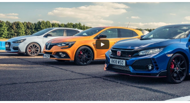 Honda Civic Type R εναντίον Renault Megane RS εναντίον Hyundai i30 N! Ποιο θα κερδίσει;