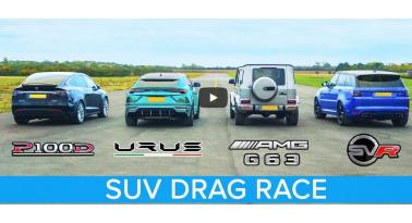 SUV Drag Race! Μάχη βαρέων βαρών! Ποιο θα κερδίσει;