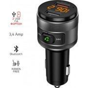 FM TRANSMITTER BLUETOOTH WITH HANDS FREE, CHARGER + 2X USB FMT-C57BT AKAI
