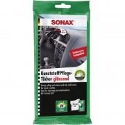 SONAX Υγρά Mαντιλάκια Περιποίησης Πλαστικών Γυαλιστερό 10τμχ