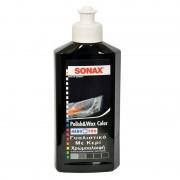 SONAX Color και Wax Nano Χρωμοαλοιφή Μαύρη 250ml