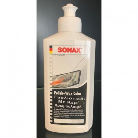 Color και Wax Nano Χρωμοαλοιφή Ασπρη 250ml 296041 SONAX