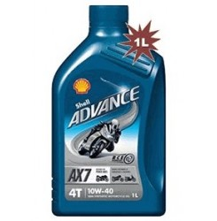 10W-40 AX7 ADVANCE 4T 1LT SHELL
