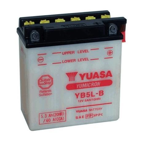 ΥΒ5L-Β 12V 5AH [- +] ΙΝΔ.DC[120-60-130] ΜΠΑΤΑΡΙΑ ΜΟΤΟ (YUASA)