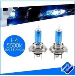 ΣΕΤ ΛΑΜΠΕΣ Η4 SUPER WHITE 5500K 12V55W ROLINGER