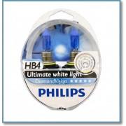 ΣΕΤ ΛΑΜΠΕΣ ΦΑΝΩΝ HB4 DIAMOND VISION (PHILIPS)