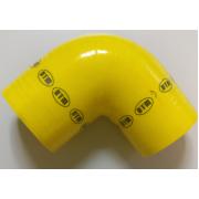ΚΟΛΑΡΟ ΑΕΡΑ ΣΙΛΙΚΟΝΗΣ ΓΩΝΙΑ 90° Φ:90mm Κίτρινο (DTM)