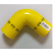 ΚΟΛΑΡΟ ΑΕΡΑ ΣΙΛΙΚΟΝΗΣ ΓΩΝΙΑ 90° Φ:80mm Κίτρινο (DTM)