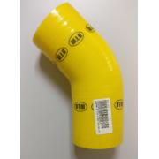 ΚΟΛΛΑΡΟ ΑΕΡΑ ΣΙΛΙΚΟΝΗΣ ΓΩΝΙΑ 135° Φ:80mm Κίτρινο (DTM)