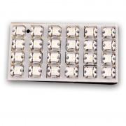 Λάμπες πλαφονιέρας με 24 LED 35x65mm λευκό 13343 AUTOLINE