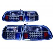 ΦΑΝΑΡΙΑ ΠΙΣΩ LED HONDA CIVIC 92 3D 10206 AUTOLINE