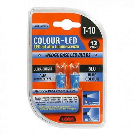 ΣΕΤ ΛΑΜΠΑΚΙΑ LED 12V 1W T10 (BLUE)
