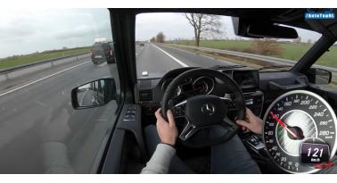 Mercedes G63 AMG V8 - Τελική ταχύτητα στην AUTOBAHN