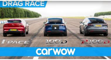 Jaguar Εναντίον Tesla! I-Pace εναντίον X 100D και P100D
