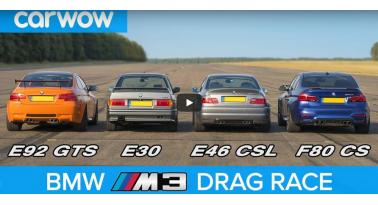 Τέσσερις γενιές BMW M3 σε drag race!