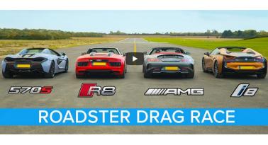McLaren 570S Spider Εναντίον R8, i8 και AMG GTC! Ποιο θα κερδίσει;
