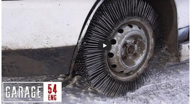 Τι θα συμβεί αν αντικαταστήσεις ένα ελαστικό αυτοκινήτου με 3000 καρφιά...