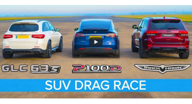 Jeep Trackhawk εναντίον Tesla Model X P100D και Mercedes-AMG GLC 63! Ποιο θα κερδίσει;