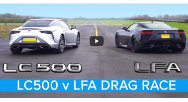 Lexus LC500 εναντίον Lexus LFA! Ποιο θα κερδίσει;
